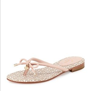 Kate Spade NY Pink Mistic Bow Flat Thong Sandals